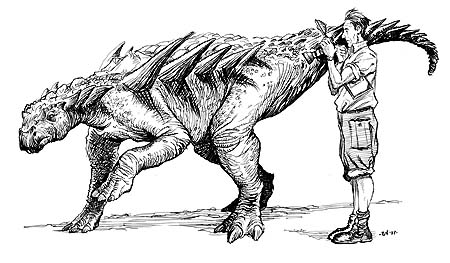 """Dinosaur Summer"" Title page"