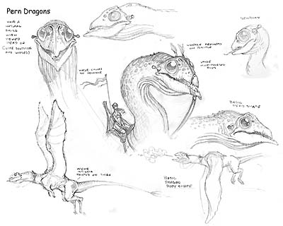 Pern dragon sketches