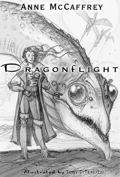 "Rough comp of ""Dragonflight"" cover"