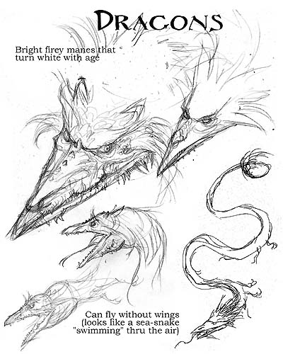 "Preperatory sketches for ""Arthur Spiderwick's Field Guide to the Fantastical World Around You."""