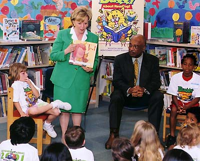 Mrs. Lynne Cheney reading TED, 2002