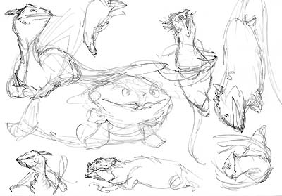 Dragon thumbnail sketches