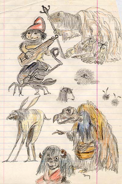 """Dark Crystal"" Character sketches"
