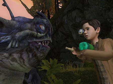 Simon faces off with a Bull Goblin!