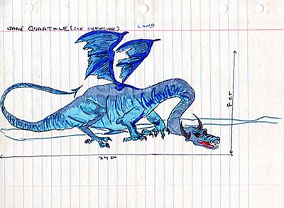 """Quaatale"" Ice Dragon from GONDWANALAND"