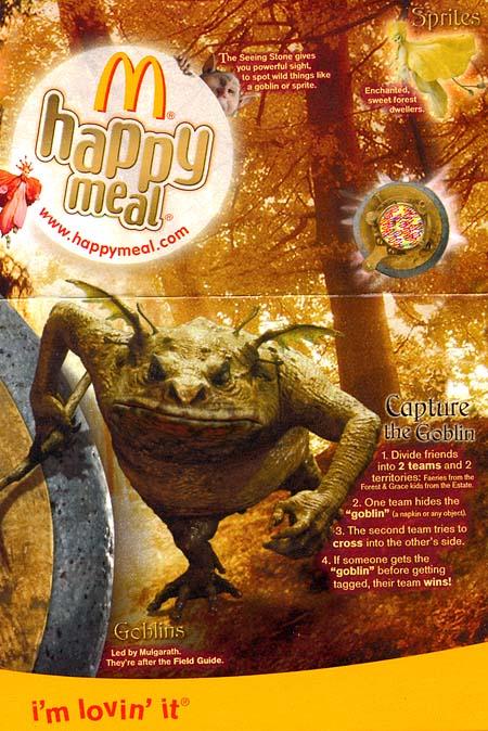 Spiderwick Happy Meal Box