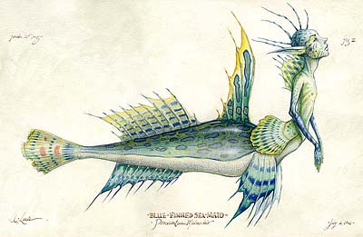 """Blue Finned Mermaid"" by Tony D, 1995"