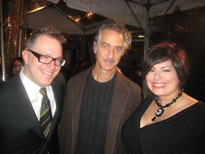 Tony D, David Strathairn, and Holly Black