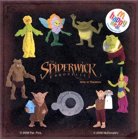 Spiderwick Happy Meals Toys