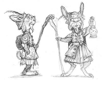 Rabbit Wizard doodle