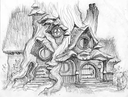 Sketch of Kenny Rabbit's house