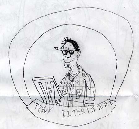 """Tony D take 1″ drawn by Neil"