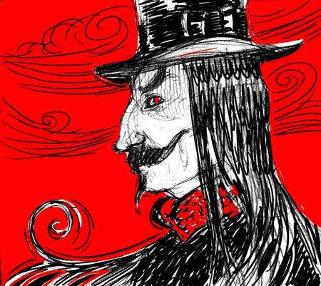 """Dracula"" sketch 4 variation"