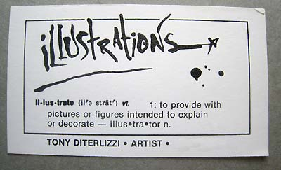 Tony D's business card, 1986