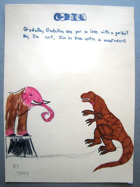 """""""Godzilla"""" by (a young) Tony D"""