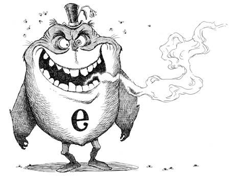 Evil Eeog original line art