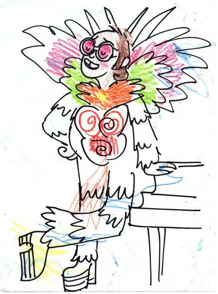 Feathered Elton