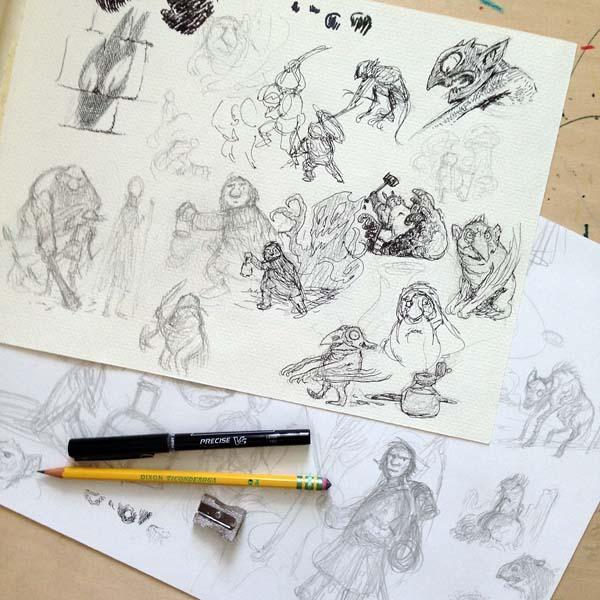 Vacation sketches