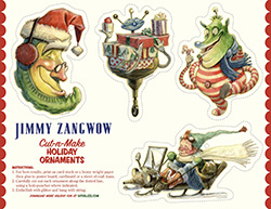 Jimmy Zangwow Holiday Ornaments