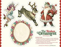Tinsel Holiday Ornaments